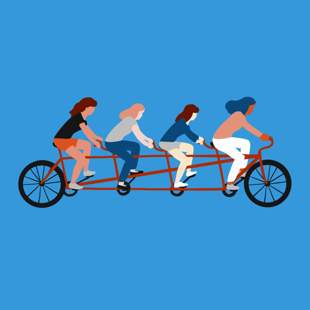 Voters bicycling to polls